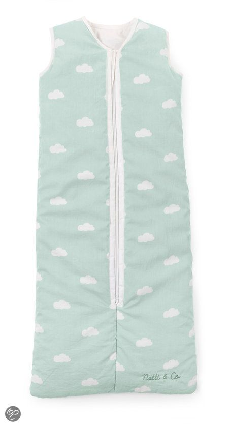 CHILDWOOD - Slaapzak 70-90 cm - Snoozy Clouds - Munt Blauw