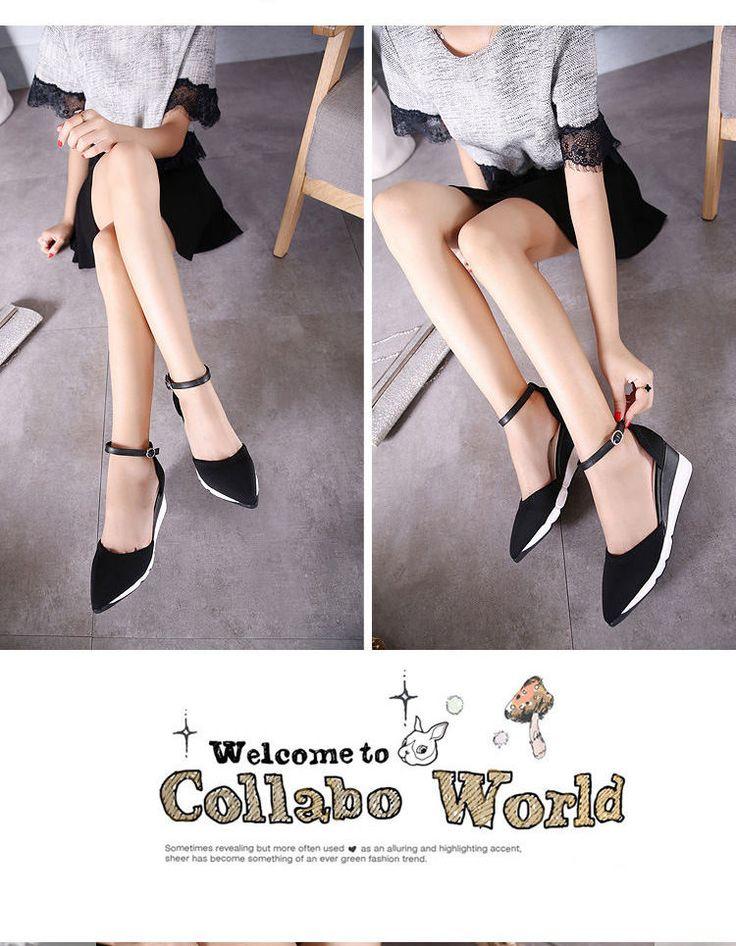 Pointed Hidden Wedge Sandals