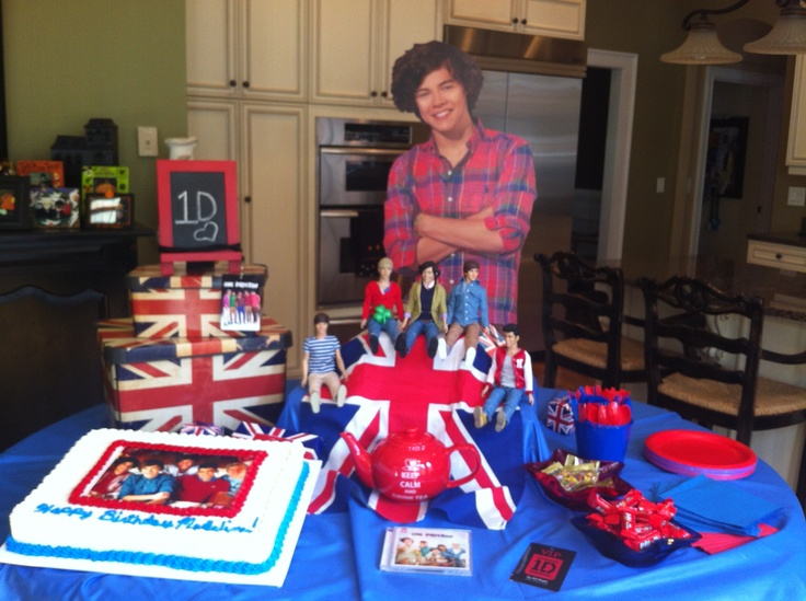 One Direction Birthday Party Party Pinterest My