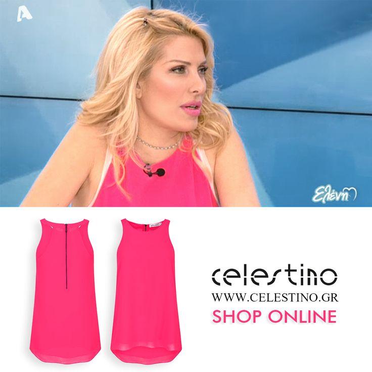 Eleni Menegaki wearing top Celestino