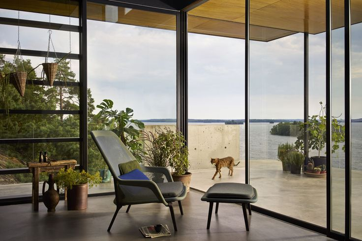 Close to Stockholm we would love to change places with that cat and enjoy the great view out of the Slow Chair.
