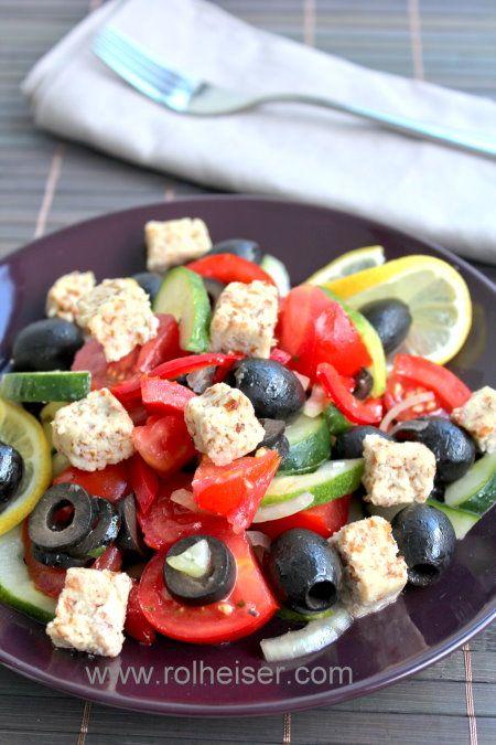 """Сыроедческий """"греческий"""" салат, фото"""