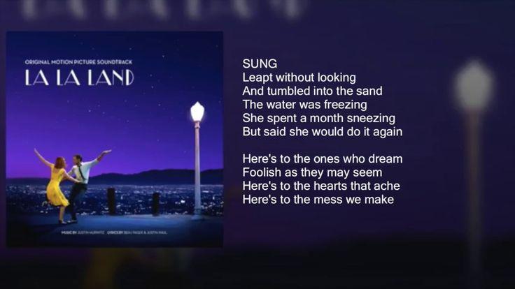 EMMA STONE  -- La La Land - During her Audition (Fools Who Dream) - Lyrics