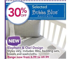 Grey & white crib set to match our bed