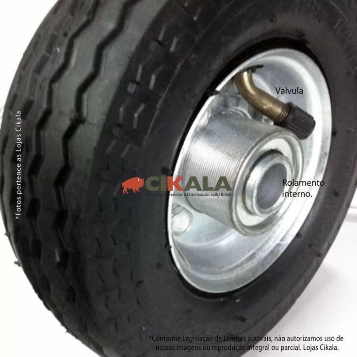 02 rodas 6x2 pneumatica c/ rolamento p/ drift trike completa