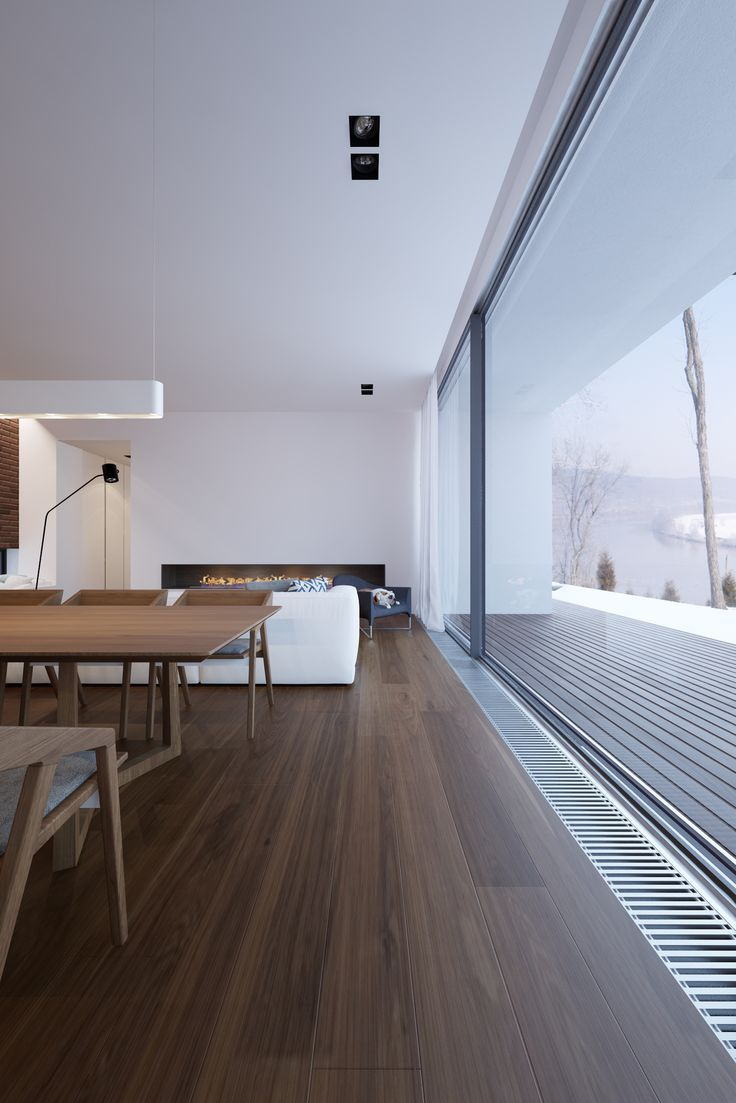 Donkere vloer met overgang van vloer naar terras. Opm. waarschijnlijk is een…