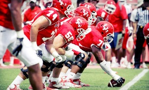 Groupon - University of Houston Cougars Football Game at Robertson Stadium on September 1 or 8 or October 6 or 13 (Up to Half Off) in Houston (Robertson Stadium ). Groupon deal price: $15.00