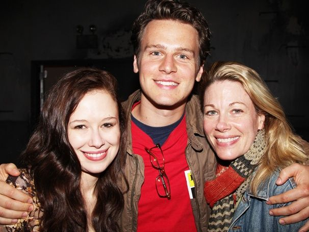 Jonathan Groff with Molly Ranson and Marin Mazzie of CARRIE: Marines Mazzi, Broadwaycom, Molly Ranson, Glee, Carrie, Photo, Jonathan Groff