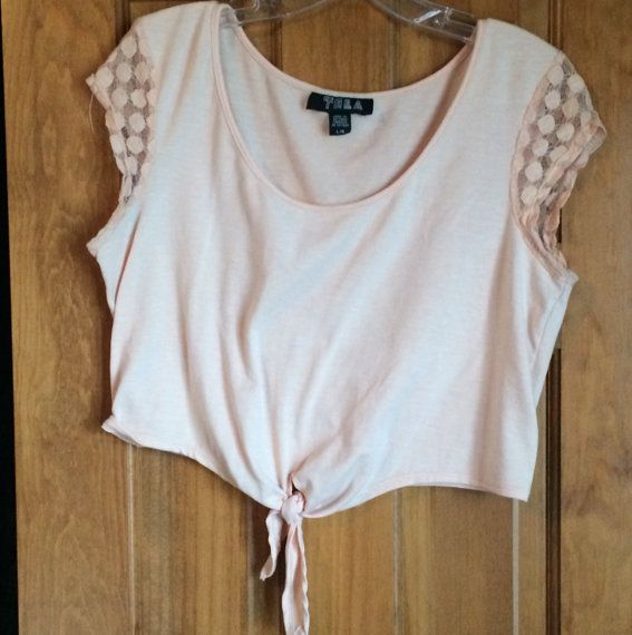 Peach crop top from UO