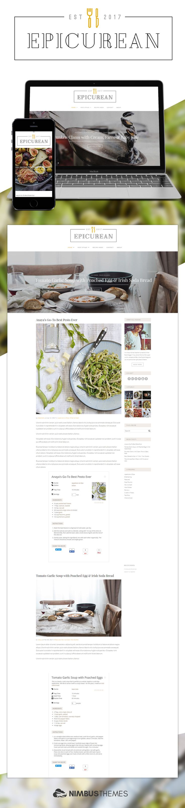 14 best best food blog wordpress themes images on pinterest introducing epicurean a wordpress theme for food and recipe bloggers forumfinder Gallery