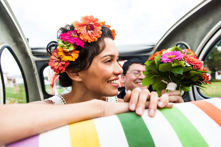 Colourful French DIY Wedding By Hermione McCosh Photography