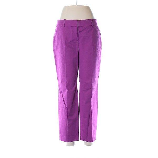 J. Crew Dress Pants ($28) ❤ liked on Polyvore featuring pants, pink, slacks pants, purple dress pants, suit trousers, cotton trousers and purple suit pants