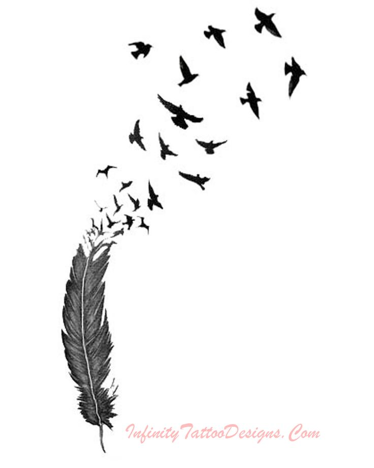 Feather Tattoo » Feather Tattoo 3 #tattoosdesigns - More designs at Stylendesigns.com!