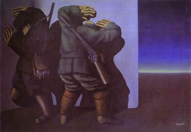 The Hunters at the Edge of Night (Les Chasseurs de la nuit) by René Magritte