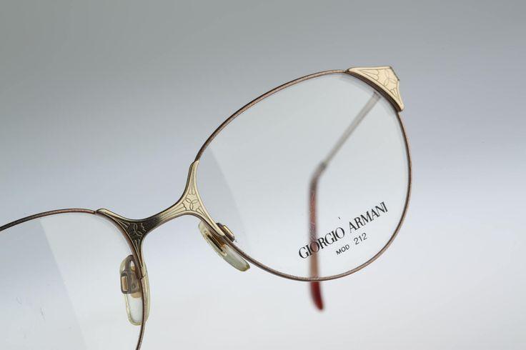 Giorgio Armani Mod 212 750  / Vintage eyeglasses & Sunglasses  / 90s NOS / Unique designer frame by CarettaVintage on Etsy