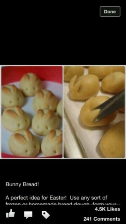 Bunny bread | Food | Pinterest