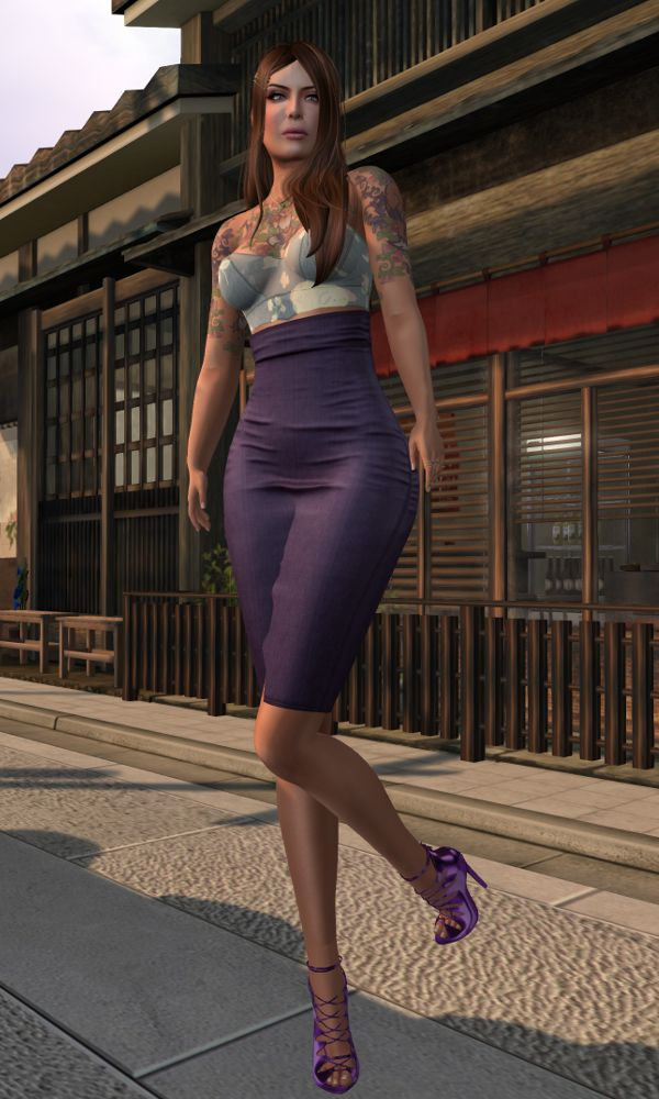 Heimo Blog post with fashion from Barberyumyum, Belleza, Birth, C88, FLF, Kustom9, La Boheme, Luxe, Plastik, Silentsparrow, TFC, The Guardians, The Little Bat, The Wash, Valentina. Purple poses. Location: Miyagawacho http://heimoslblog.blogspot.fi/2016/07/foxglove.html