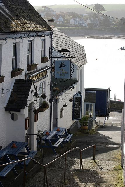 The Victory Inn, just above the Harbour at St Mawes in Cornwall