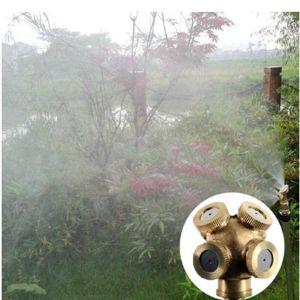 4 Delikli Ayarlanabilir Pirinç Bahçe Yağmurlu Sulama