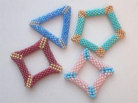 Sarubbest: come realizzare forme bucate con la tecnica Peyote (triangolo e quadrato) - YouTube