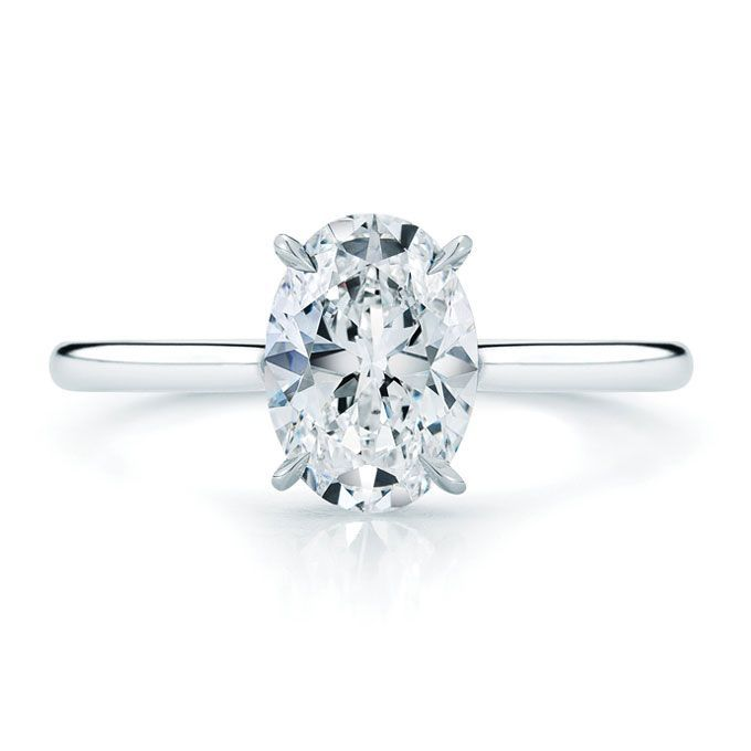 If I were to get a solitaire diamond engagement ring I'd want it to be an oval- like my grandmother's.