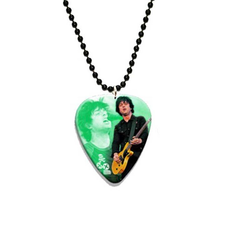 Green Day Billie Joe Armstrong plectrum ketting