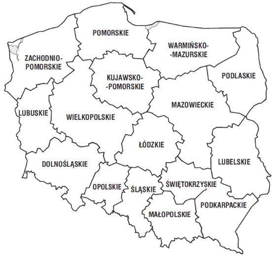 Kolorowanki Mapa Polski Geografia Edukacja I Jezyk Polski