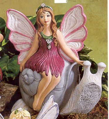 gare fairy riding snail painted - Bing Images