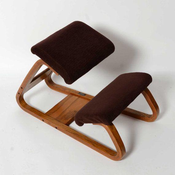 Ergonomic Kneeling Chair Mid Century Danish by HearthsideHome