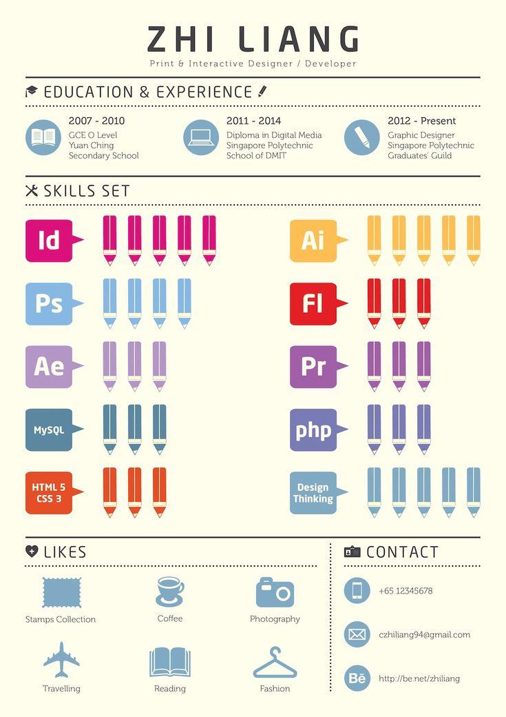 Opvallend CV door er een infographic van de maken!