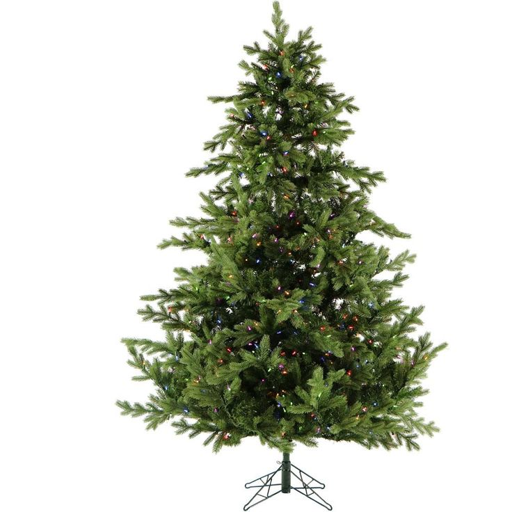 7 ft. Pre-lit LED Southern Peace Pine Artificial Christmas Tree with 600 Multi-Color String Lights, Greens