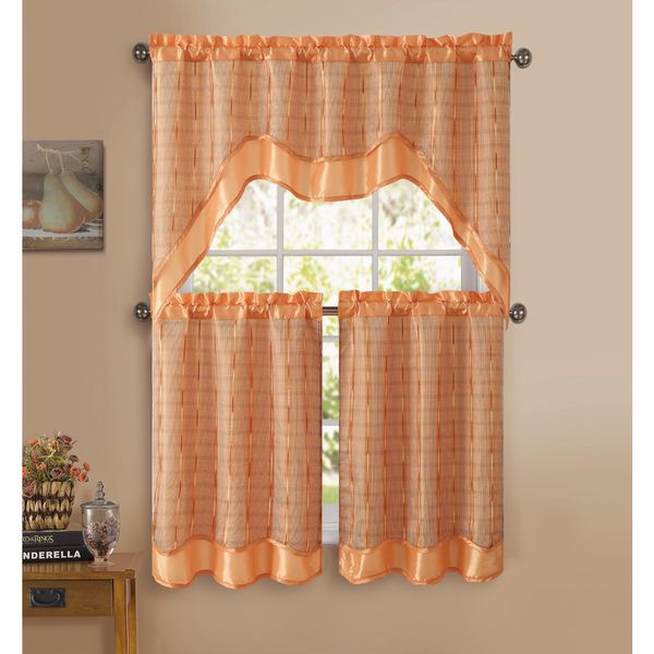 High Quality Sabrina Is A Gorgeous Embroidered Kitchen Curtain Set From VCNY Home Adds A  Splash Of Color