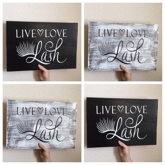 Live, Love, Lash Wood Wall Art, Wood Sign - eyelash extentionist,  aesthetician, cosmetologist, beauty