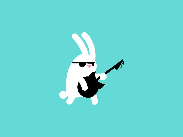 Animation gif rock rabbit guitarist guitar follow the white rabbit segui il coniglio bianco rocker Navnav loop #animation #gif