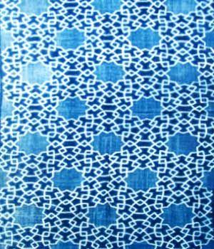 ikat batik - ubud bali, hand-dyed, indigo batik