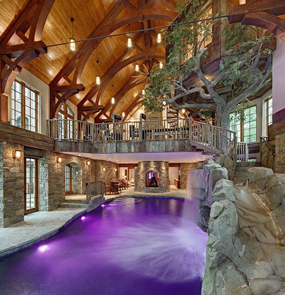 lakefront dream home lists with indoor tree house photos - Indoor House Pools