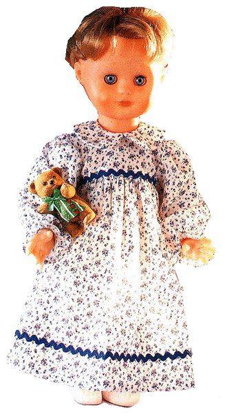 Doll's therapy. Для заболевших куклами. Ночная рубашка длякуклы.