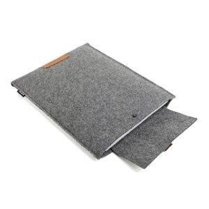 Suoran Macbook Pro 15 Inch Retina Display Sleeve Wool Felt Case Macbook Cover Bag For Macbook Pro 15 Inch Retina Display (11.0x14.8x0.4) - Gray