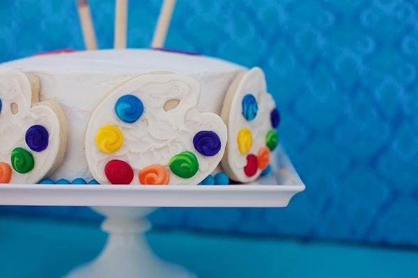 Easy art party cake livinglocurto