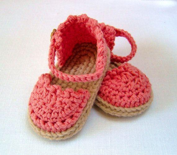 CROCHET PATTERN Baby Espadrille Sandals Easy Photo Tutorial Crochet Baby Sandals Pattern instant download Digital File