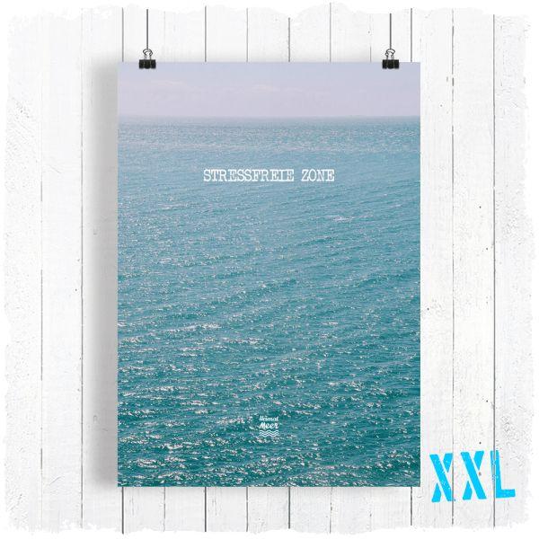 Stressfreie Zone XXL PRINT - DIN A2