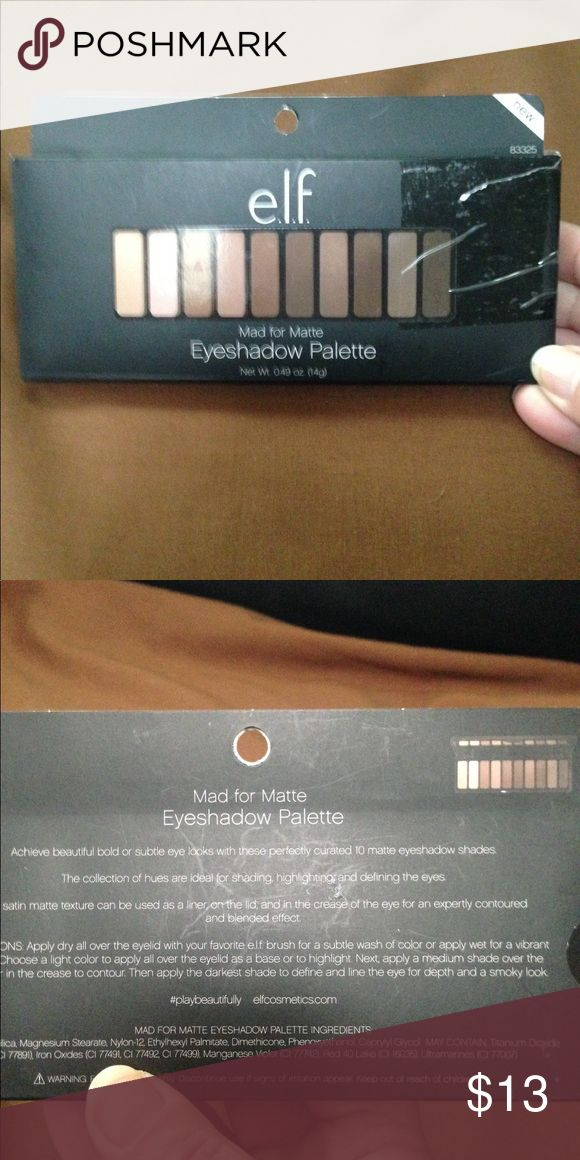 Elf Palette Elf palette of 10 browns! Not been used ELF Makeup Eyeshadow