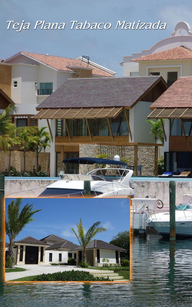 Proyecto Teja Plana, Punta Cana, República Dominicana Teja Plana Tabaco Matizada Ladrillera Casablanca Si lo puedes imaginar te lo podemos crear.  Naturaleza en tu espacio! www.ladrilleracasablanca.com