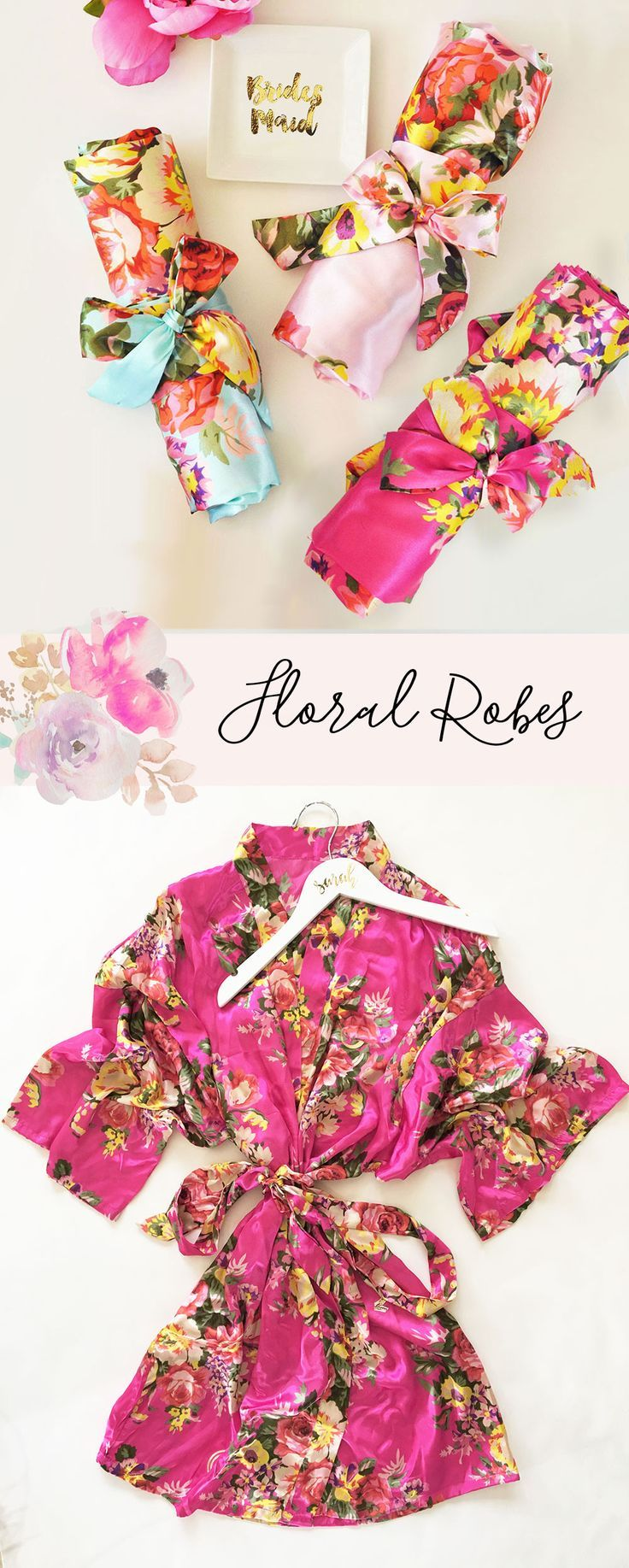 Floral Robe | Bridesmaid Gift Ideas | Floral Bridesmaid Robe | Floral Print www.klowephoto.com