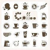 kawa : Kolekcja kawy, zestaw ikon wektorowych