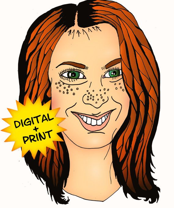 Custom Portraits Natural Style Digital and Hand Drawn Picture with Print and Edit Control