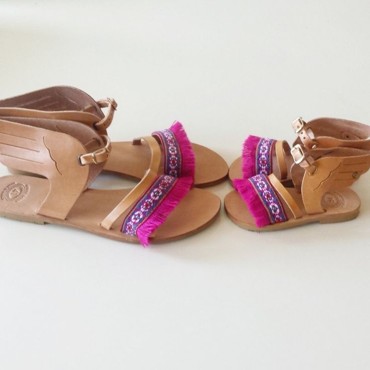 "Mommy and Me Leather Sandals ""Ermis"", Handmade Sandals for kids, Boho Girls Sandals, Greek Leather Sandals, Worldwide Shipping by GlowHandmade on Etsy"