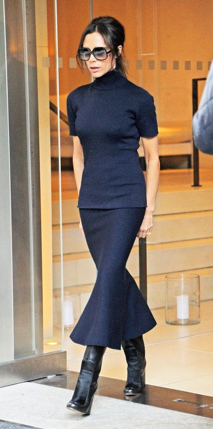 Style Lessons We Learned from Being Obsessed with Victoria Beckham - Lesson: Pair a Midi with a Midi - from InStyle.com