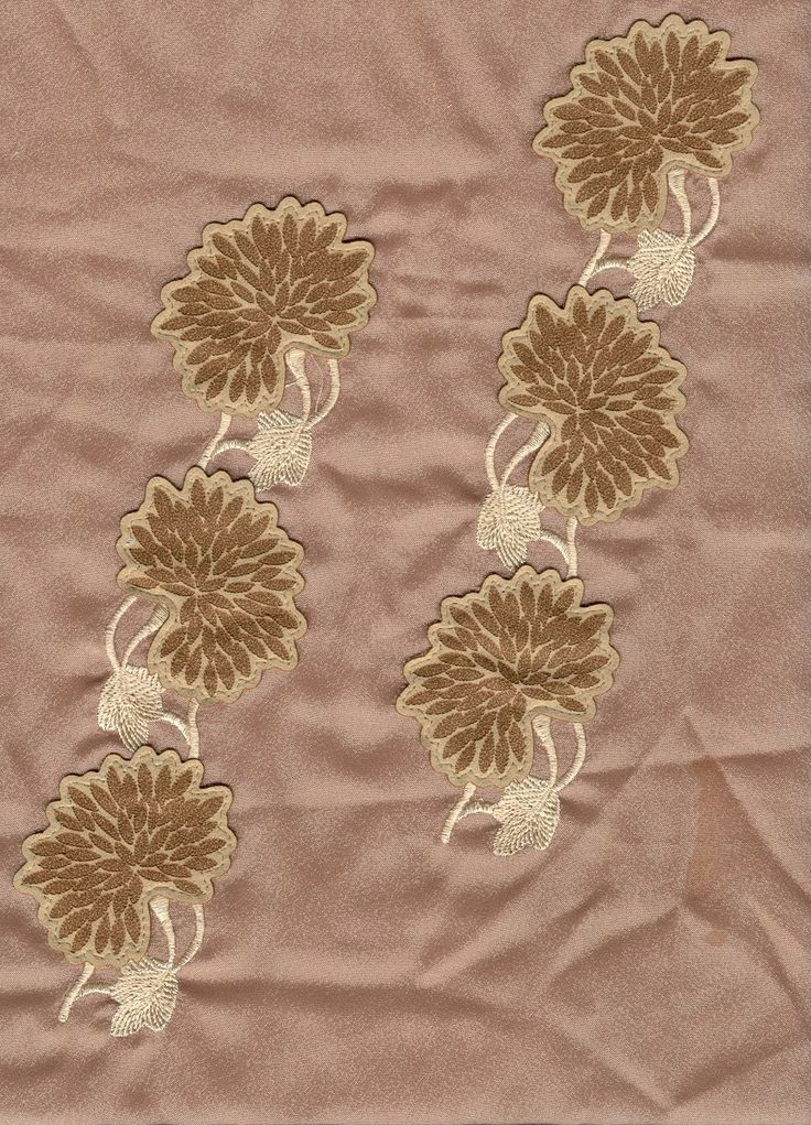 #Embroidery and #laser cut and engraved decorated fabric, by #GMIlaser cutting machine . www.gmi.it