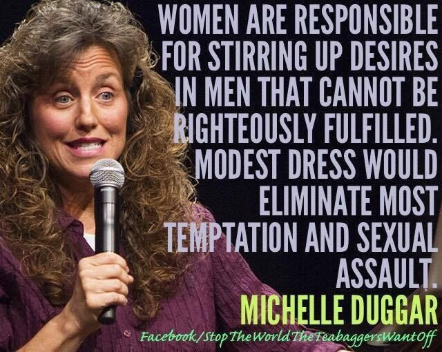 #inners So Michelle #Duggar is blaming her daughter's & the other 5 yr old 4 her molester sons actions. Really?